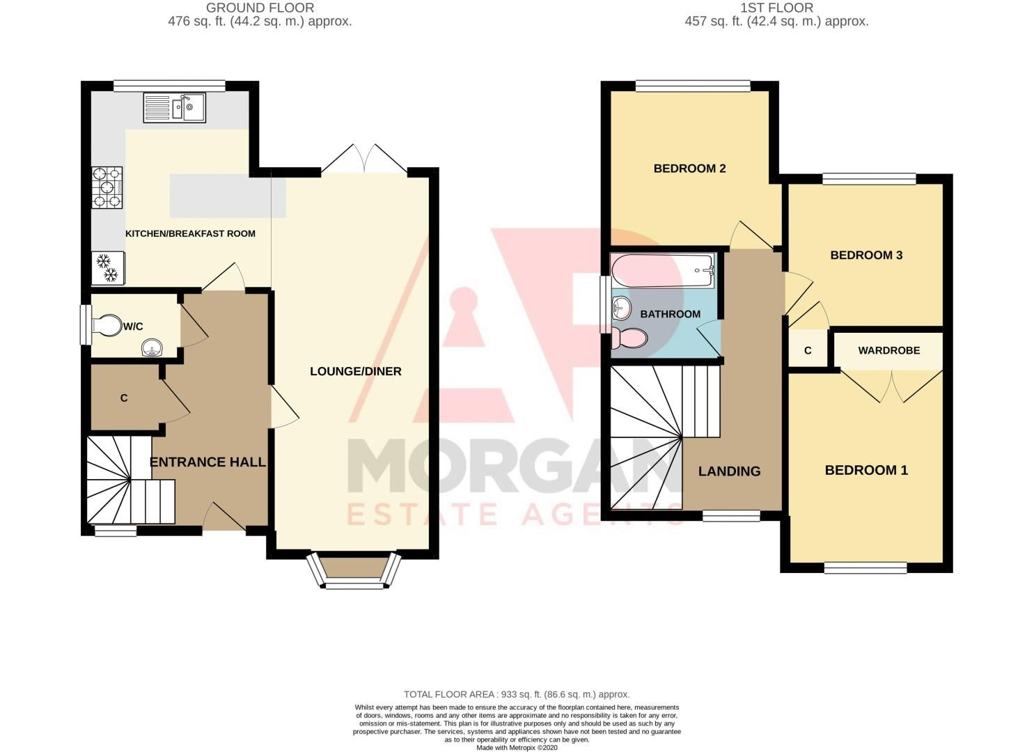 3 bed house for sale in The Flats - Property Floorplan