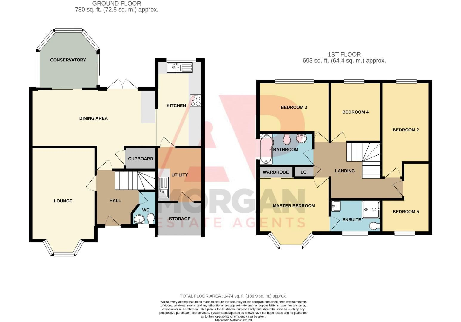 5 bed house for sale in McConnell Close - Property Floorplan