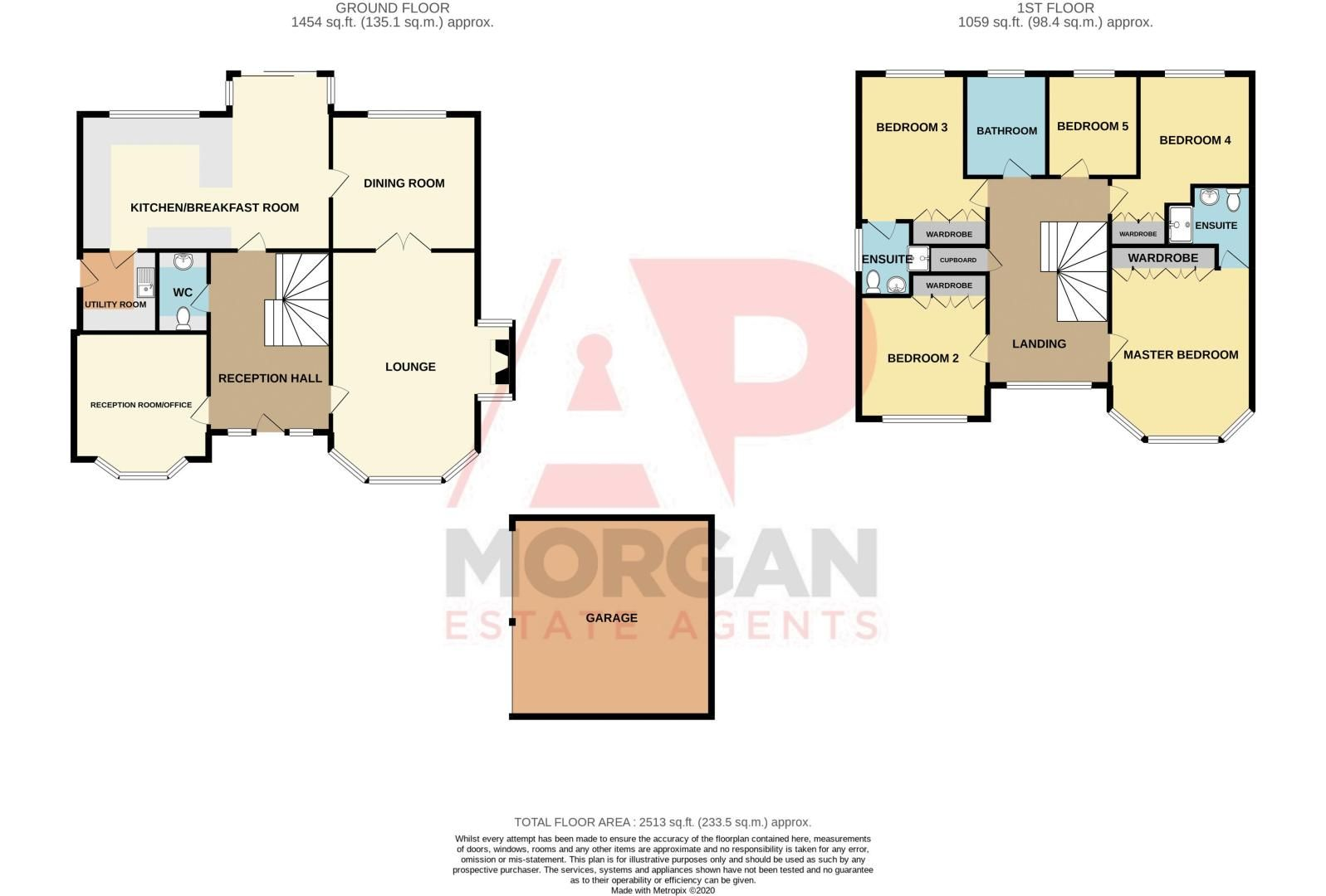 5 bed house for sale in Appletrees Crescent - Property Floorplan