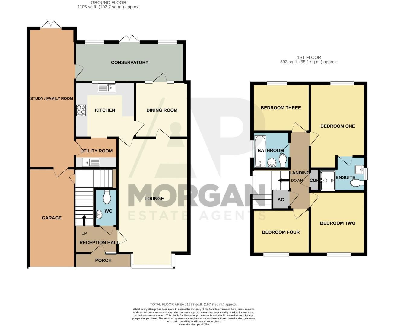 4 bed house for sale in Grazing Lane - Property Floorplan