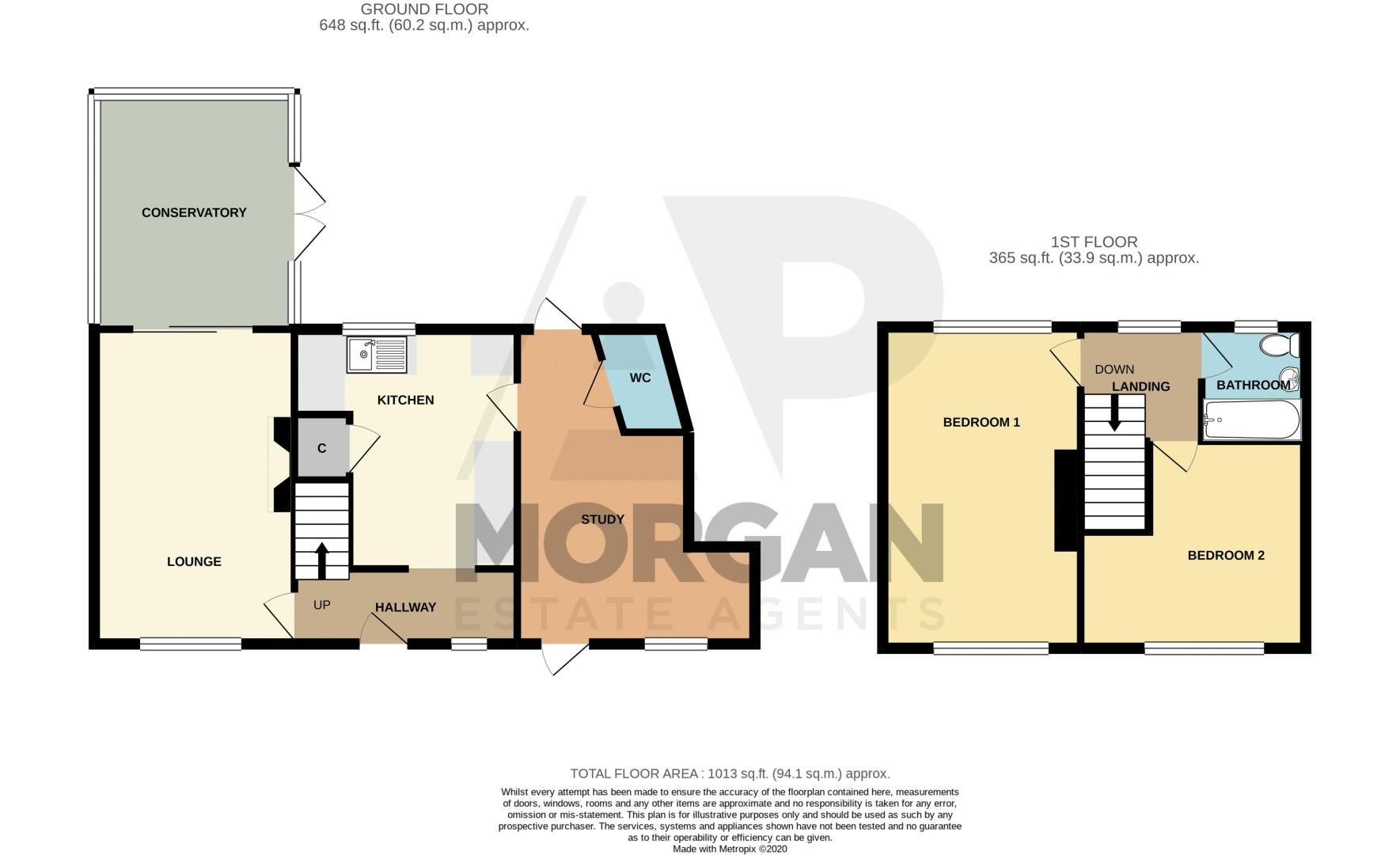 2 bed house for sale in Bishop Hall Crescent - Property Floorplan