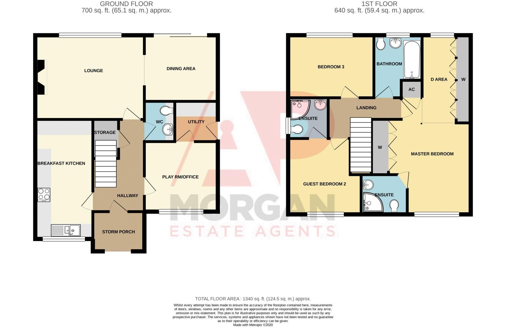 3 bed house for sale in Lea Park Rise - Property Floorplan
