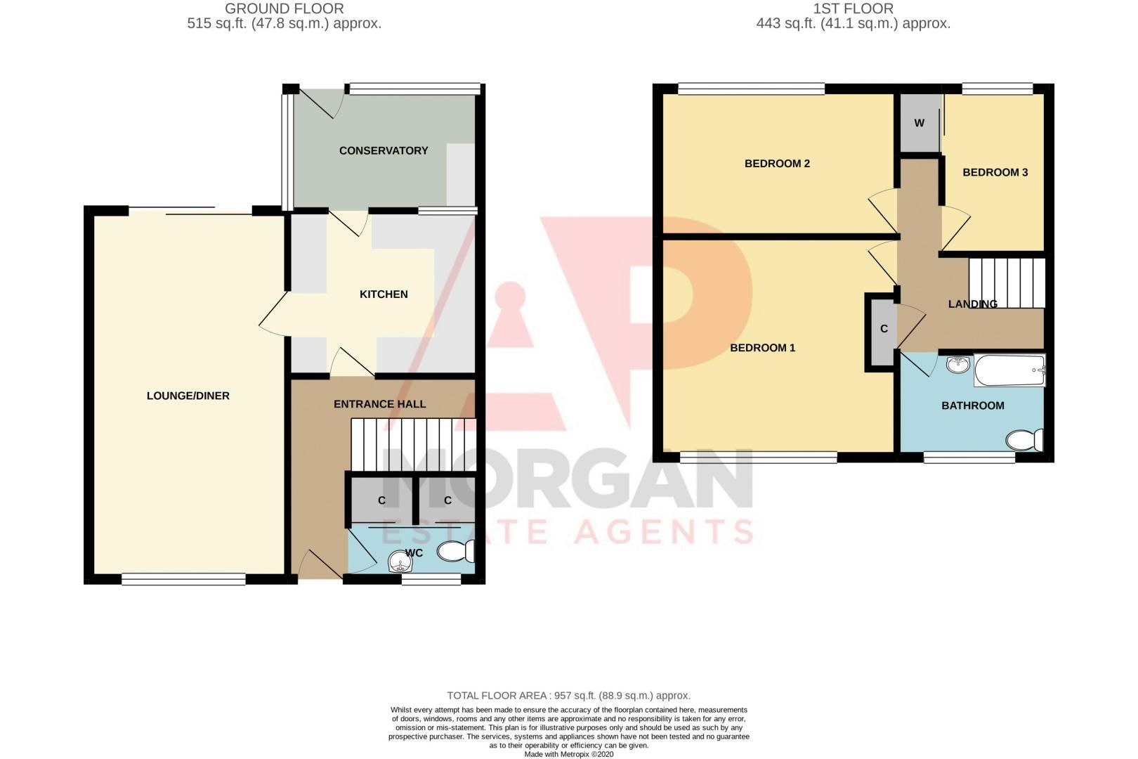 3 bed house for sale in Archer Court - Property Floorplan