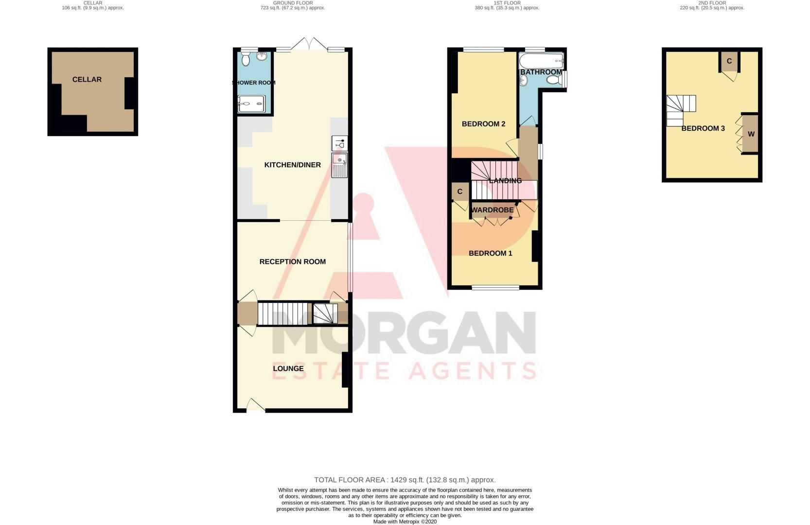 2 bed house for sale in Broad Street - Property Floorplan