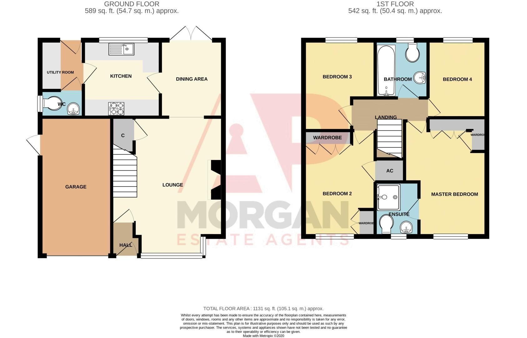 4 bed house for sale in Pulman Close - Property Floorplan
