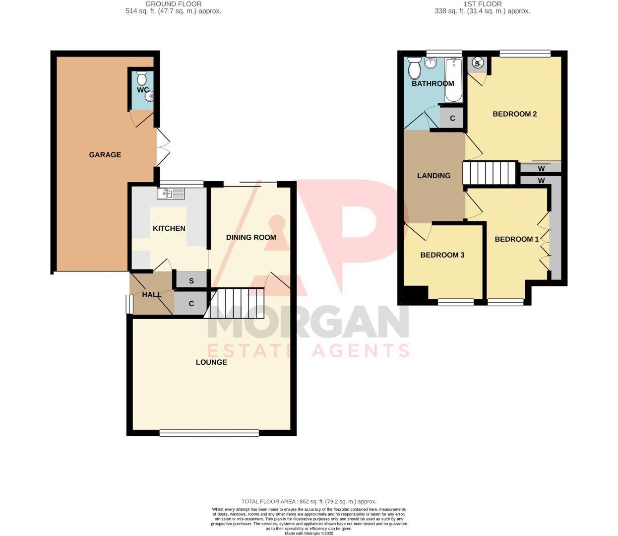 3 bed house for sale in Hordern Crescent - Property Floorplan