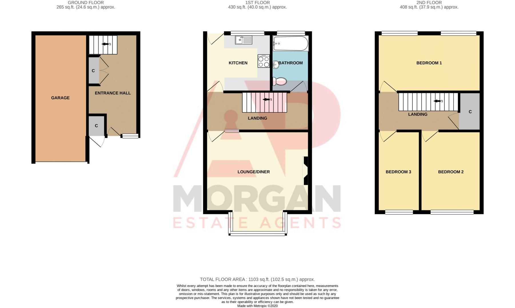 3 bed house for sale in Blagdon Road - Property Floorplan
