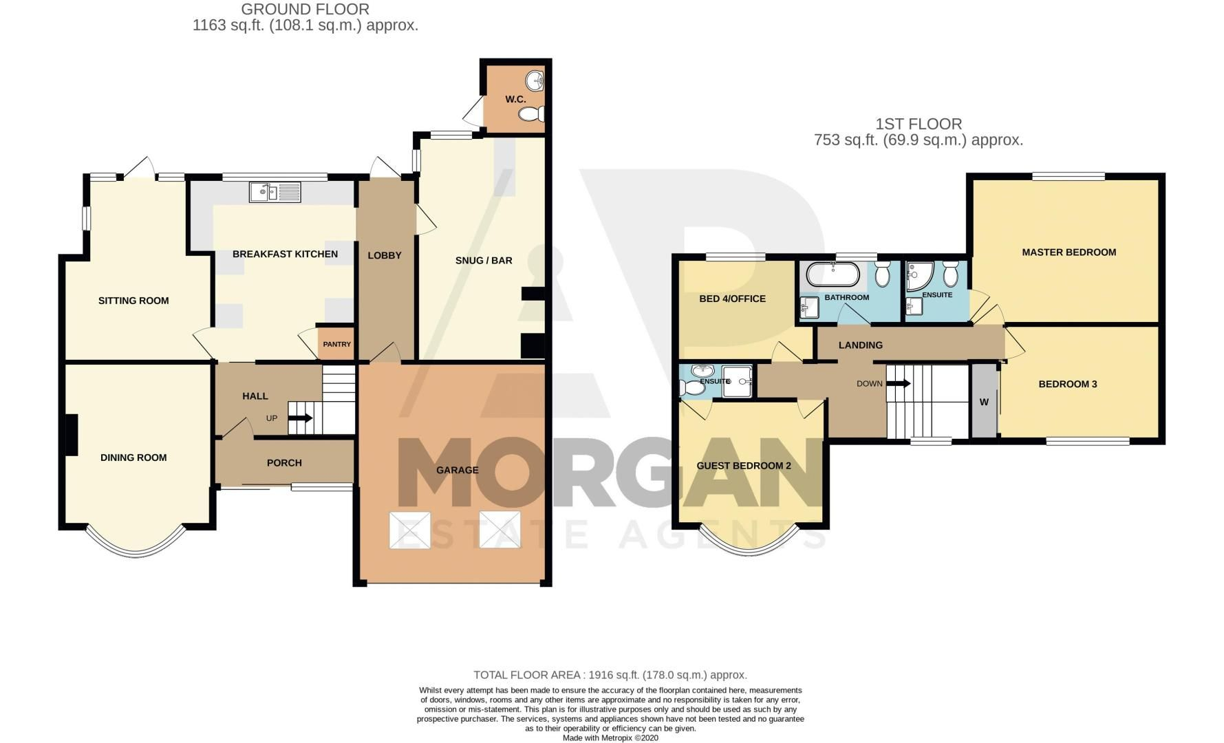 4 bed house for sale in Park Road - Property Floorplan
