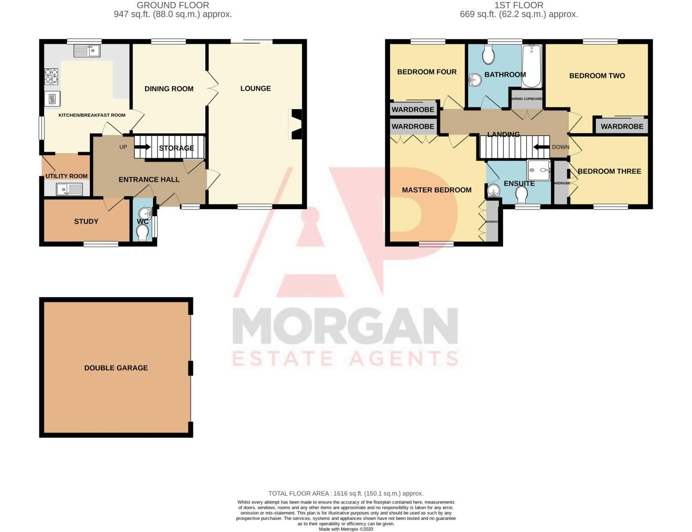4 bed house for sale in Appletrees Crescent, Woodland Grange - Property Floorplan