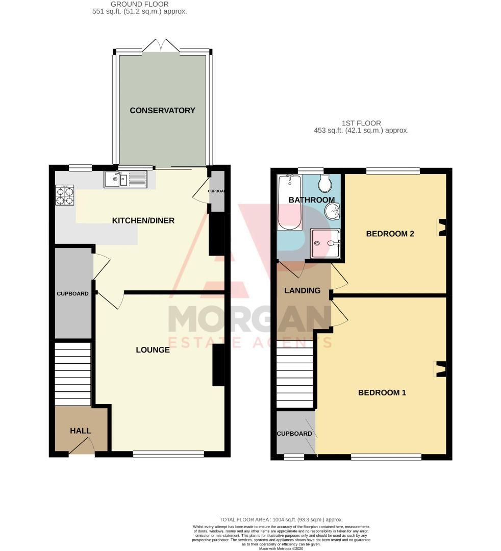 2 bed house for sale in The Promenade - Property Floorplan