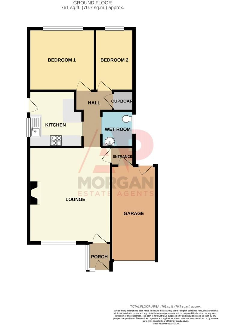 2 bed bungalow for sale in Newlands Drive - Property Floorplan