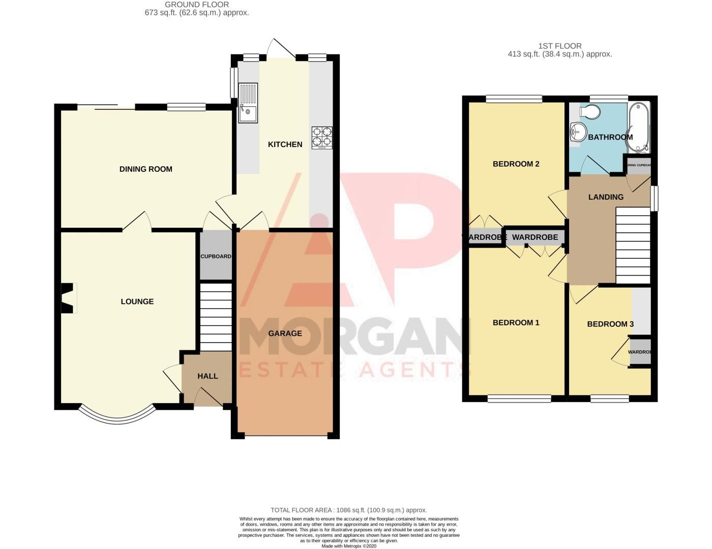 3 bed house for sale in Bartestree Close - Property Floorplan