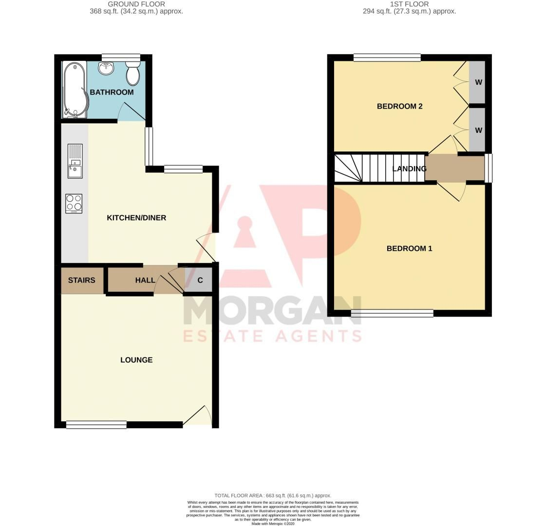 2 bed house for sale in Poole Street - Property Floorplan