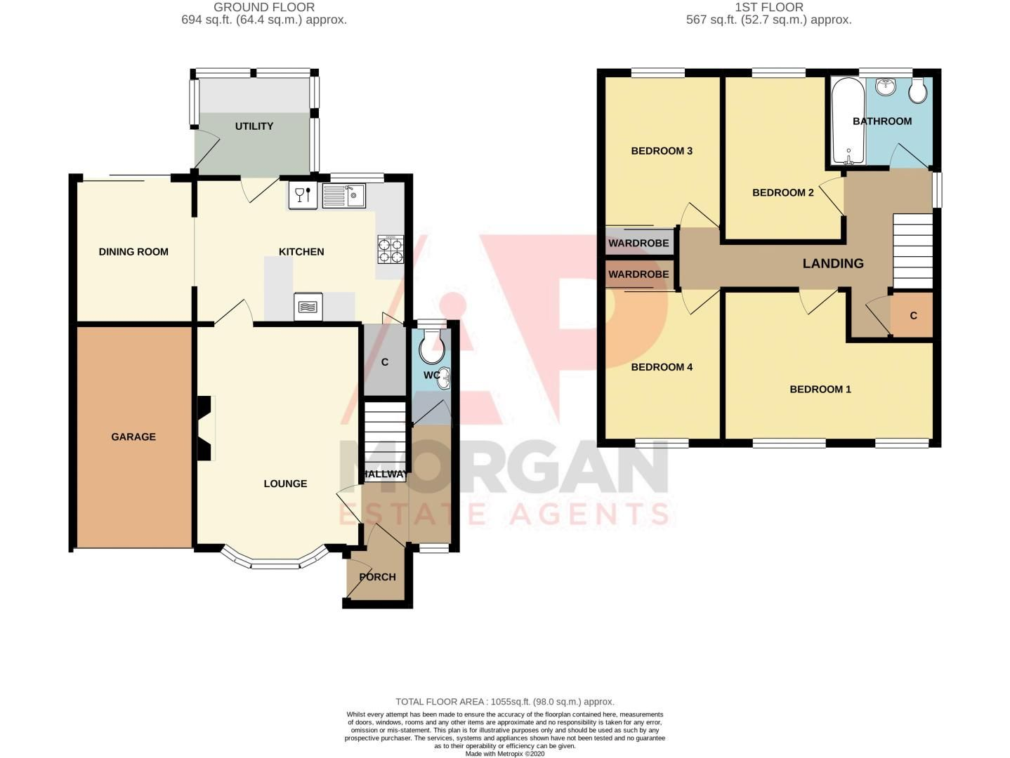 4 bed house for sale in Moorfield Drive - Property Floorplan