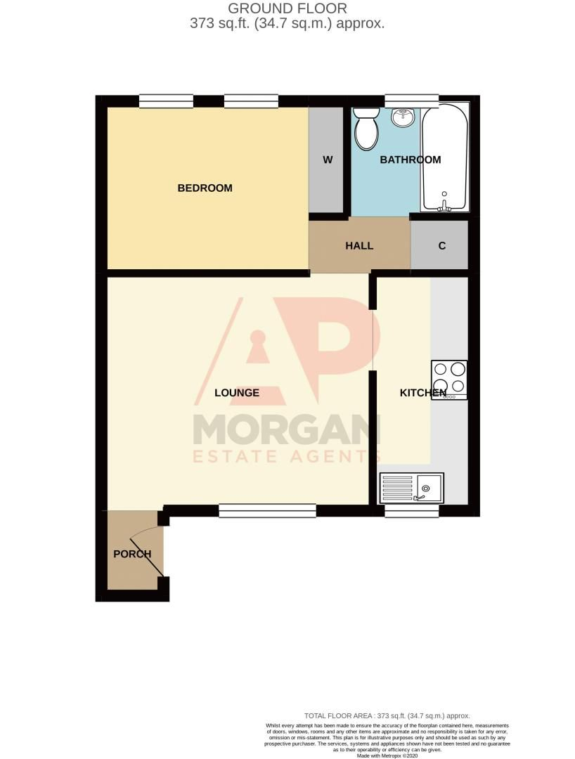 1 bed  for sale in Bagleys Road - Property Floorplan