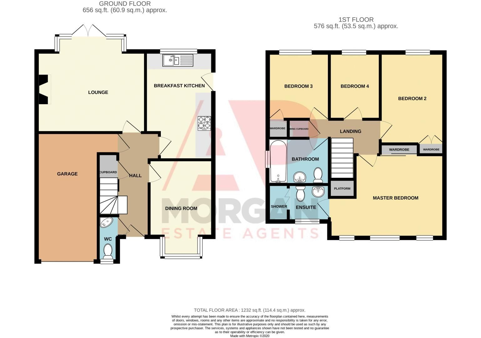 4 bed house for sale in Pennyford Close - Property Floorplan
