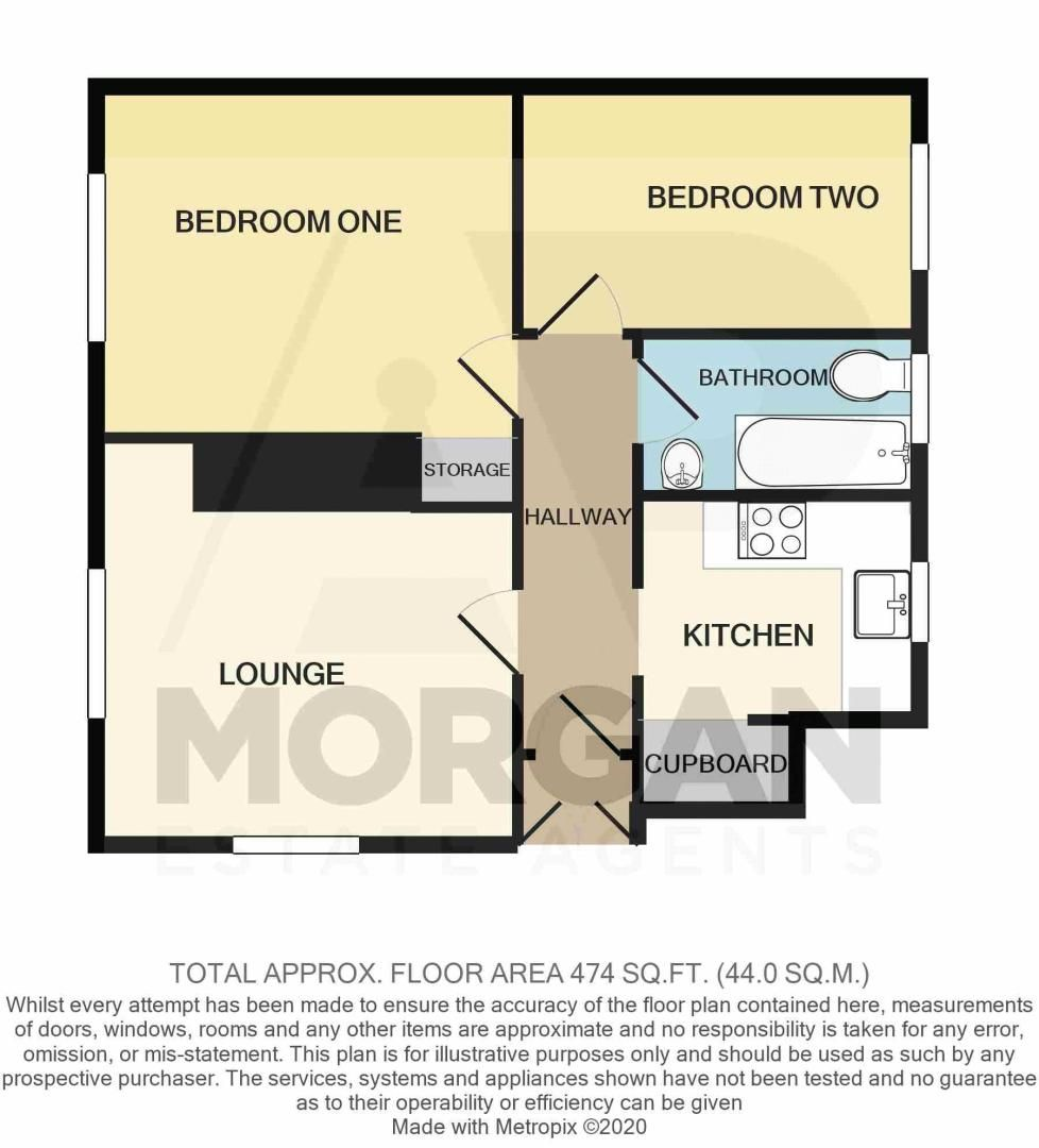 2 bed  for sale in Larkfield Road - Property Floorplan