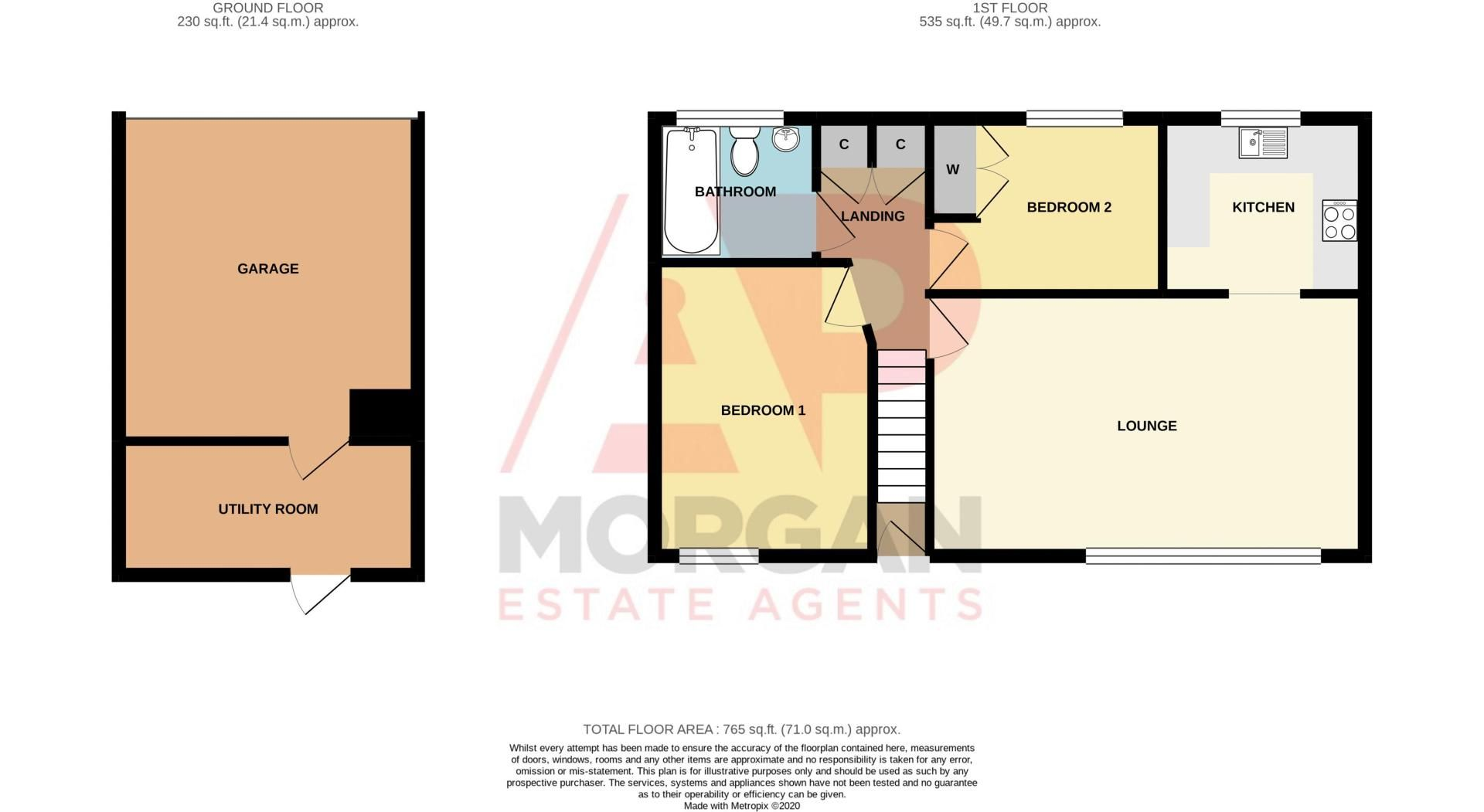 2 bed house for sale in Century Way - Property Floorplan