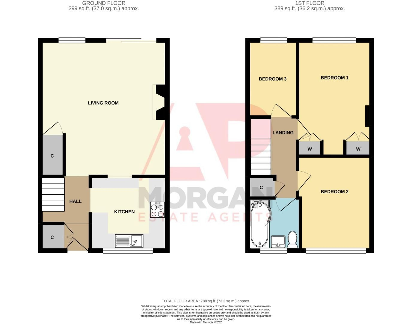 3 bed house for sale in Chadcote Way - Property Floorplan