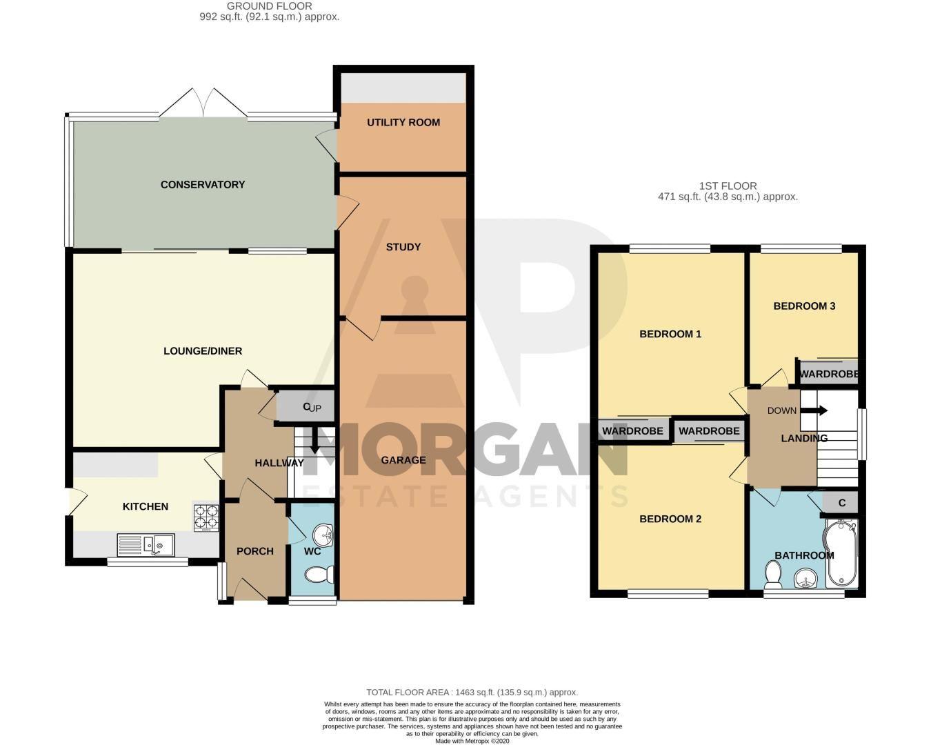 3 bed house for sale in Woodberrow Lane - Property Floorplan