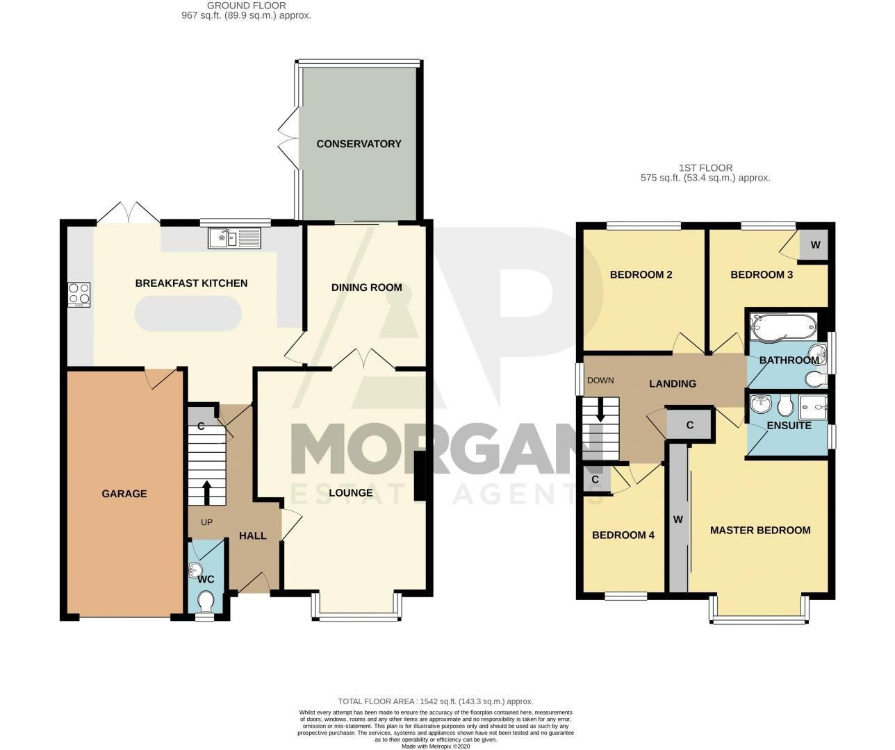 4 bed house for sale in Radbourne Drive - Property Floorplan