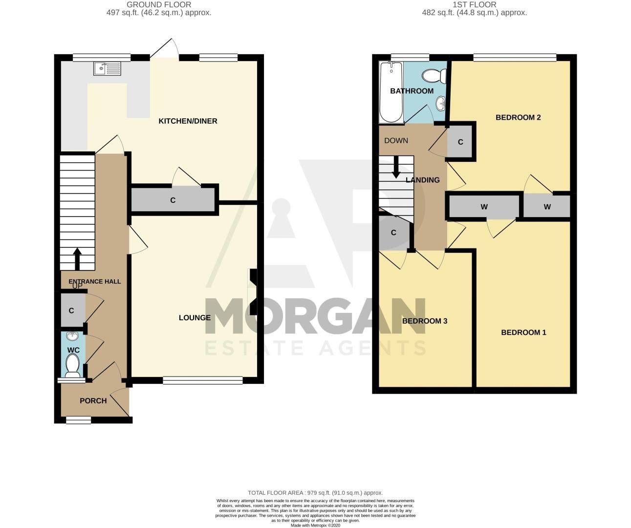 3 bed house for sale in Mendip Road - Property Floorplan
