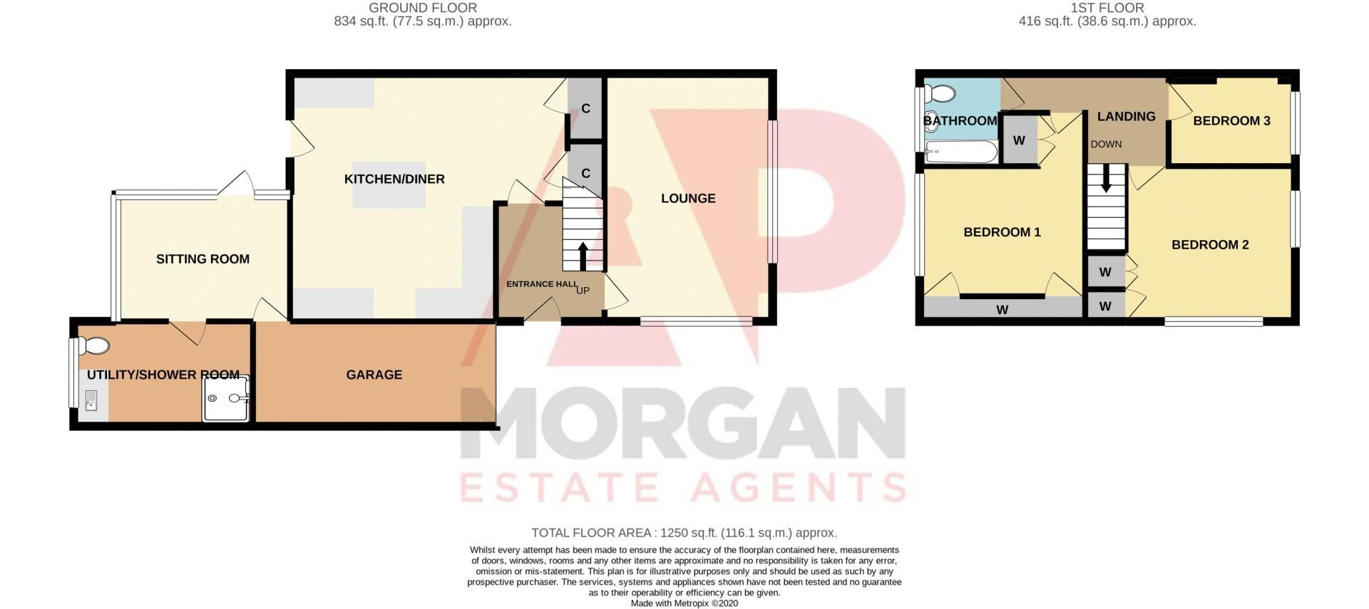 3 bed house for sale in Robins Close - Property Floorplan