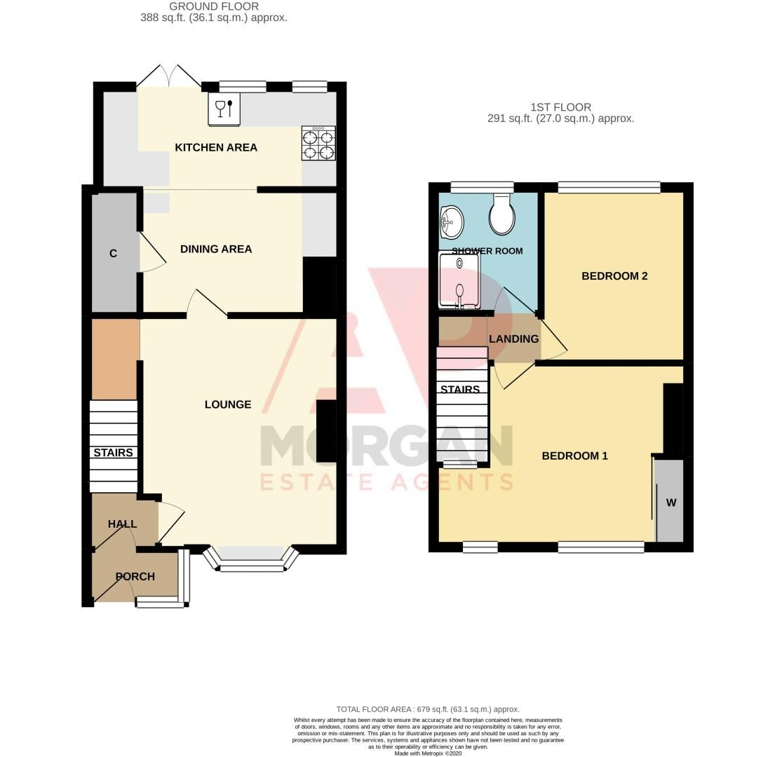 2 bed house for sale in Chapel Street - Property Floorplan