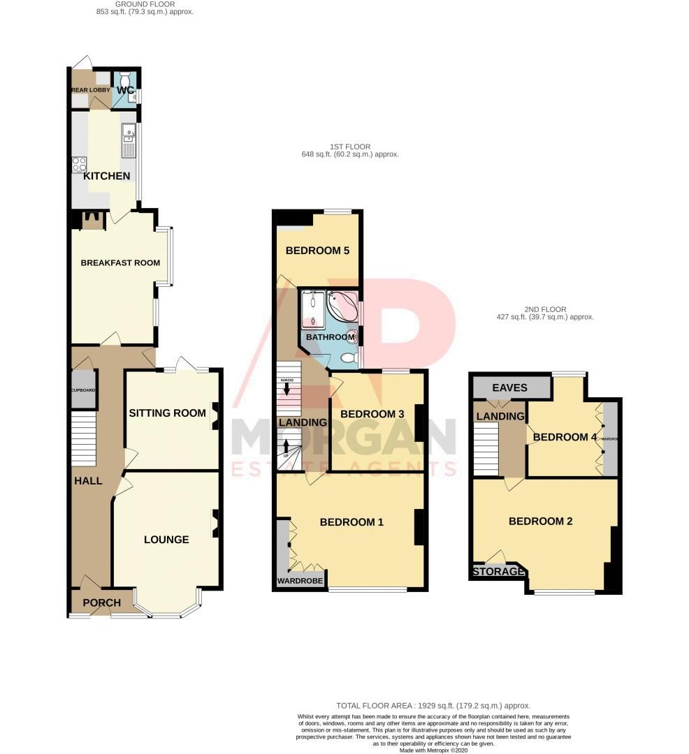 5 bed house for sale in Wake Green Road - Property Floorplan