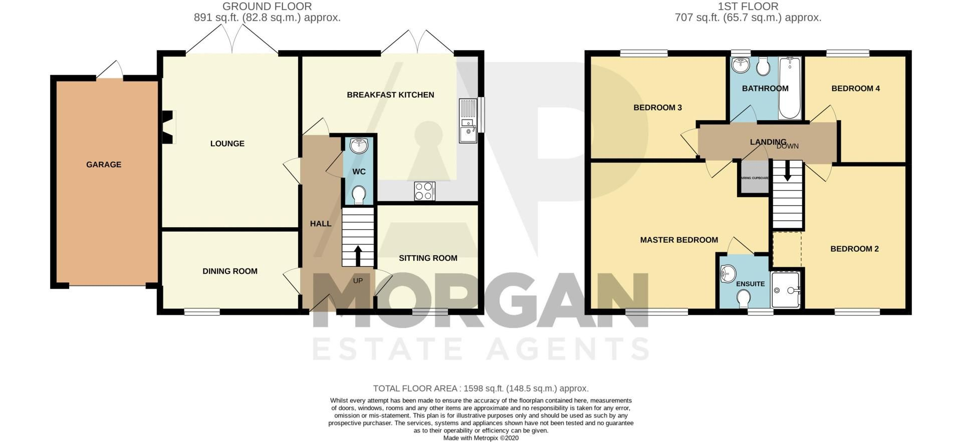4 bed house for sale in Keller Walk - Property Floorplan