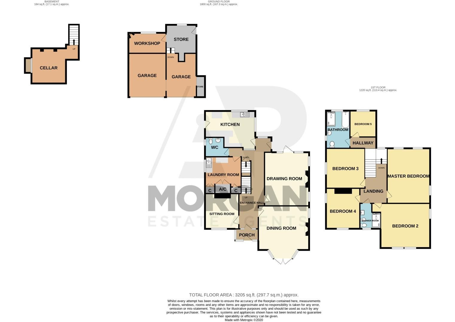 5 bed house for sale in College Road - Property Floorplan