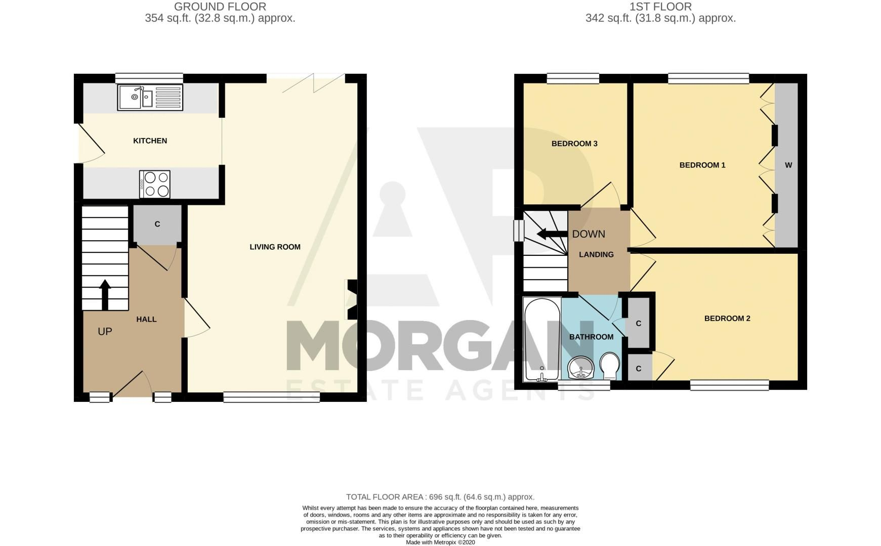3 bed house for sale in Lawnsdown Road - Property Floorplan