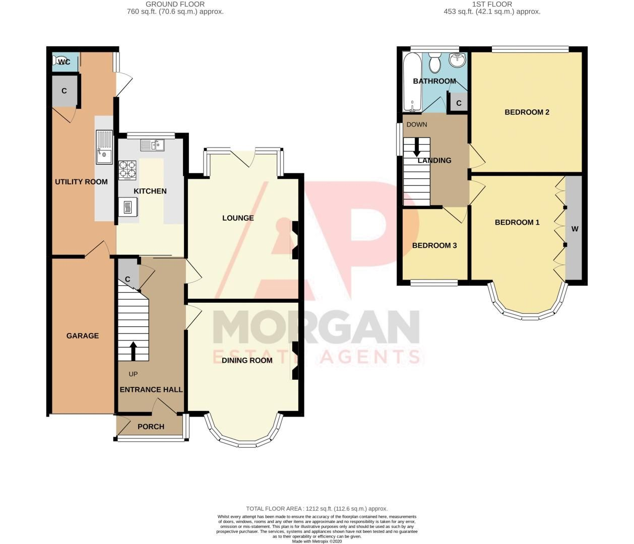 3 bed house for sale in Olive Hill Road - Property Floorplan
