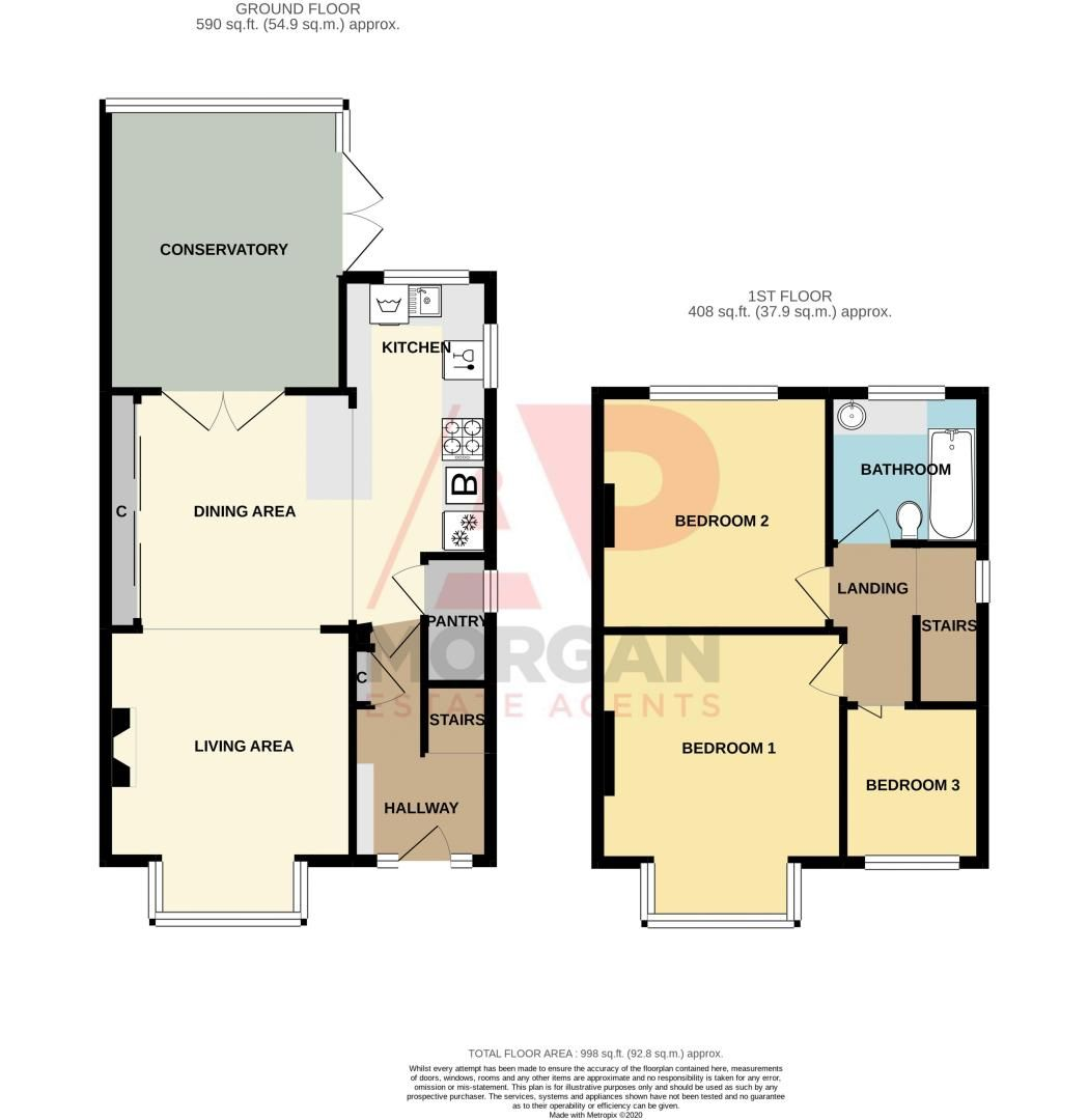 3 bed house for sale in Plymouth Road - Property Floorplan
