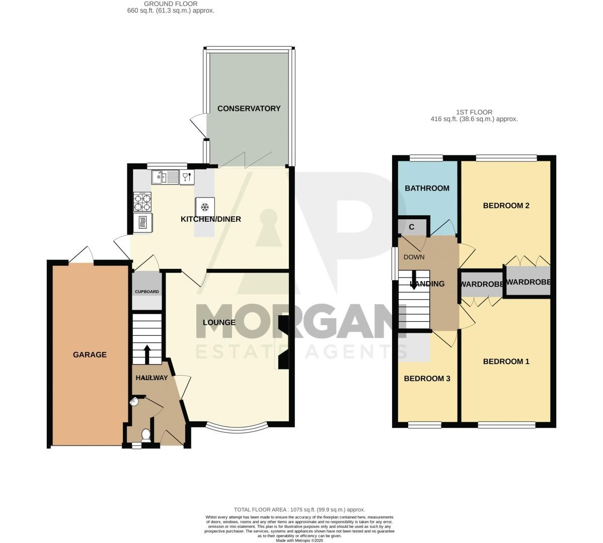 3 bed house for sale in Milford Close - Property Floorplan
