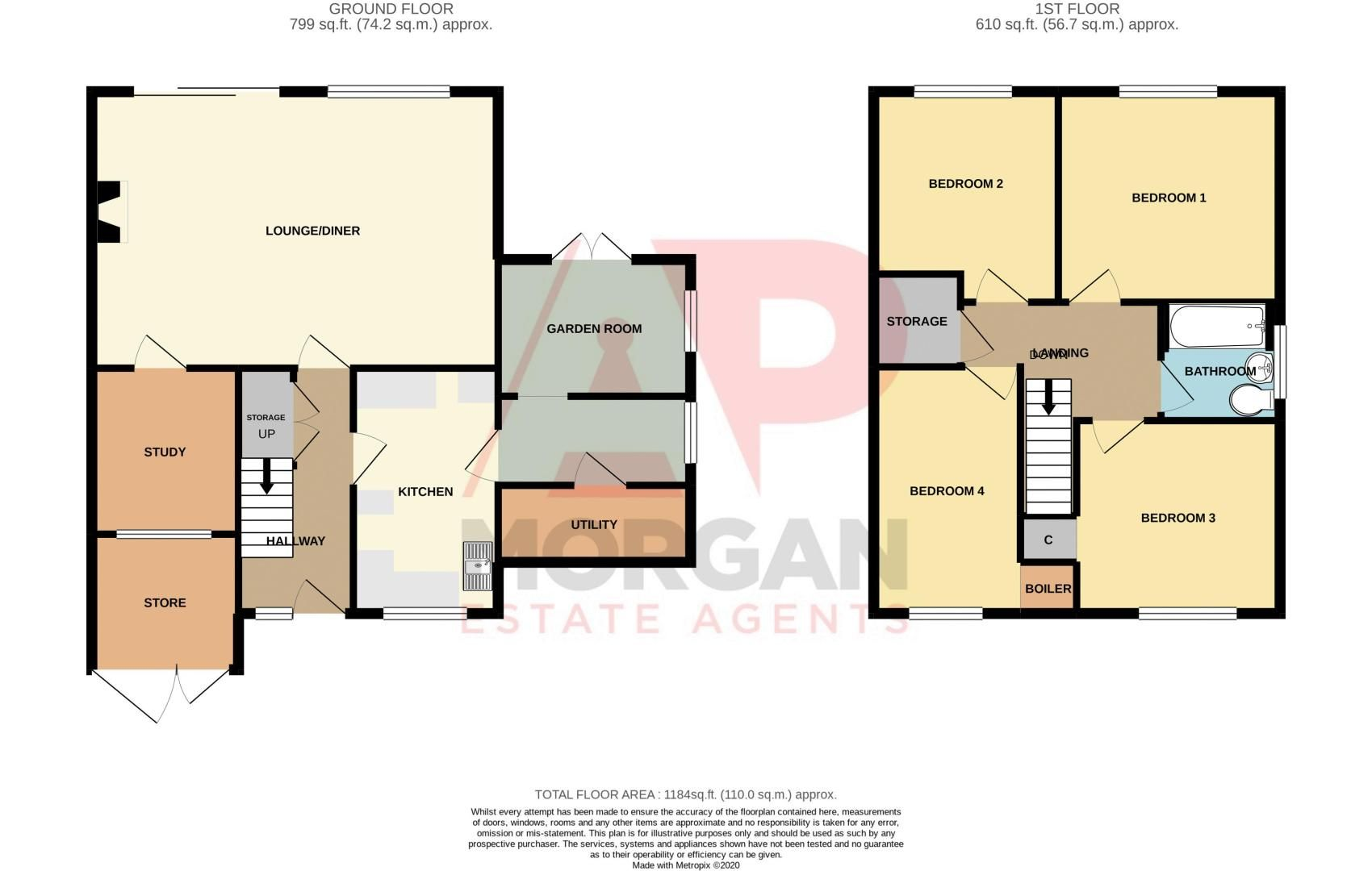 4 bed house for sale in Ferney Hill Avenue - Property Floorplan