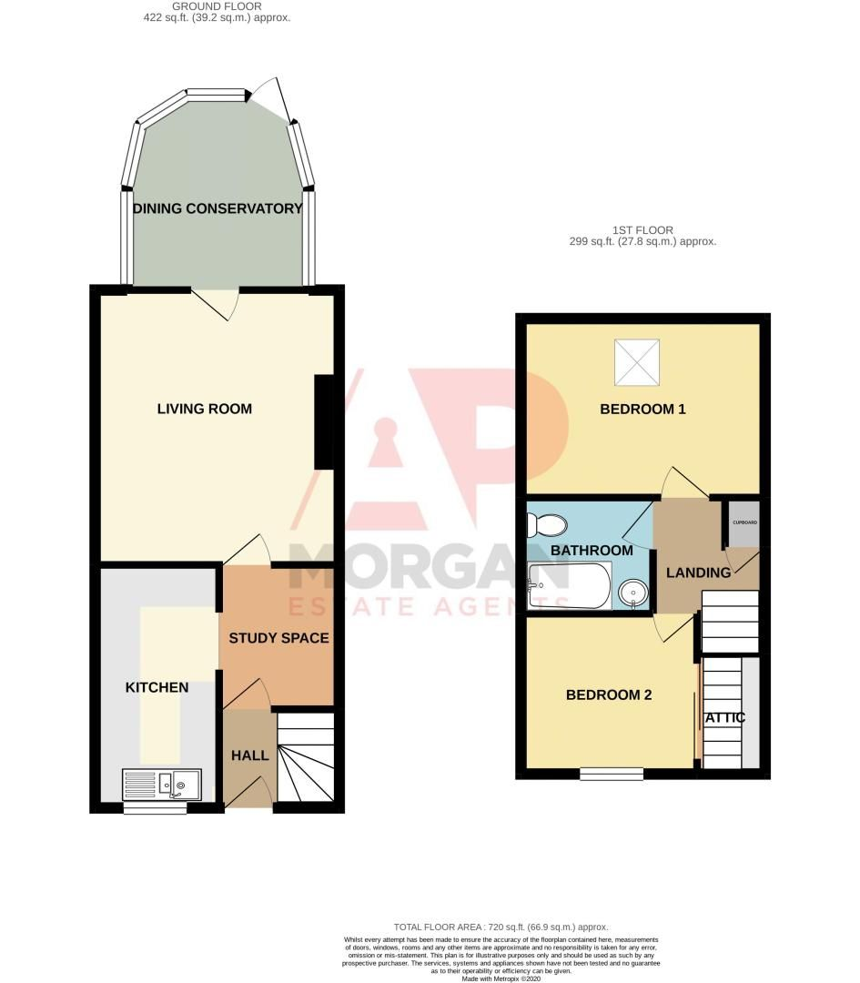 2 bed house for sale in Linton Mews - Property Floorplan