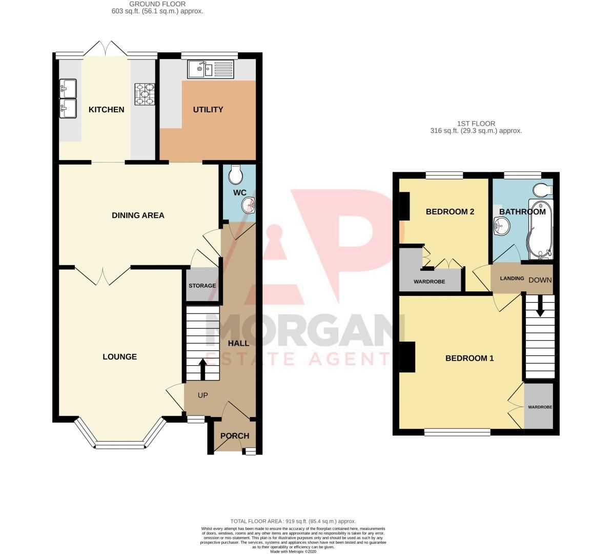 2 bed house for sale in Arrowdale Road - Property Floorplan