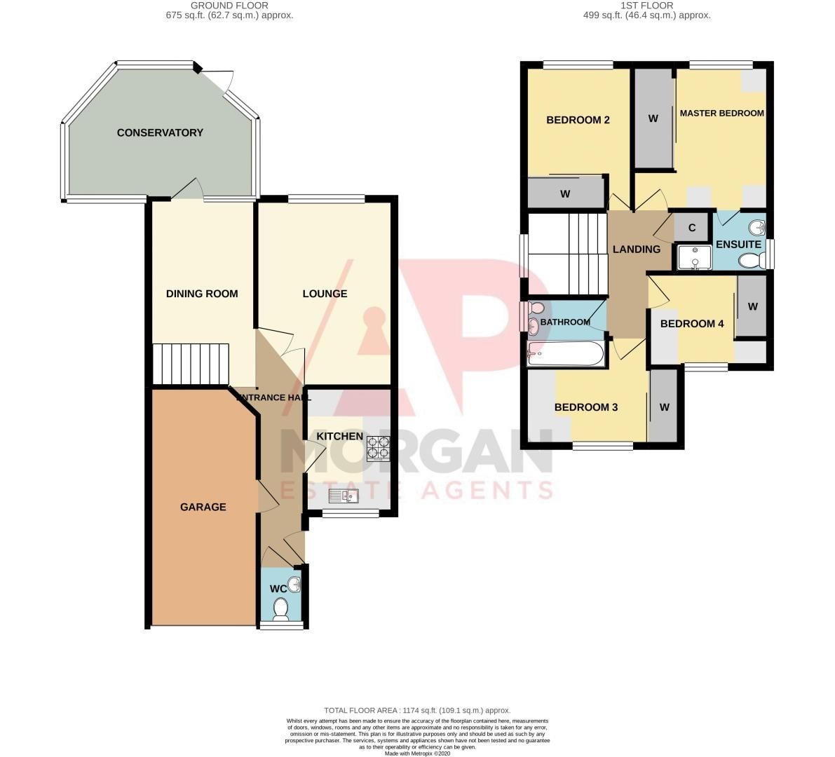 4 bed house for sale in Pear Tree Drive - Property Floorplan