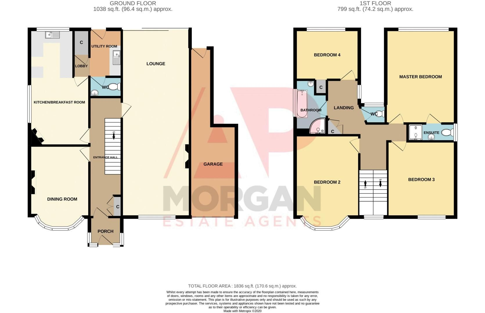 4 bed house for sale in Haden Hill Road - Property Floorplan
