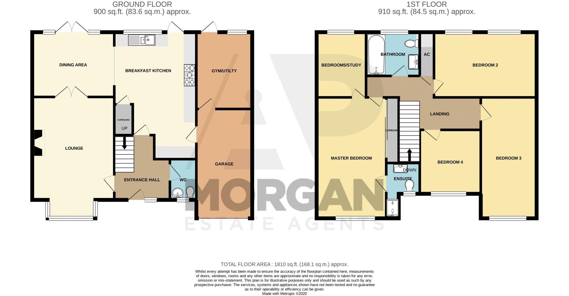 5 bed house for sale in Lineholt Close - Property Floorplan