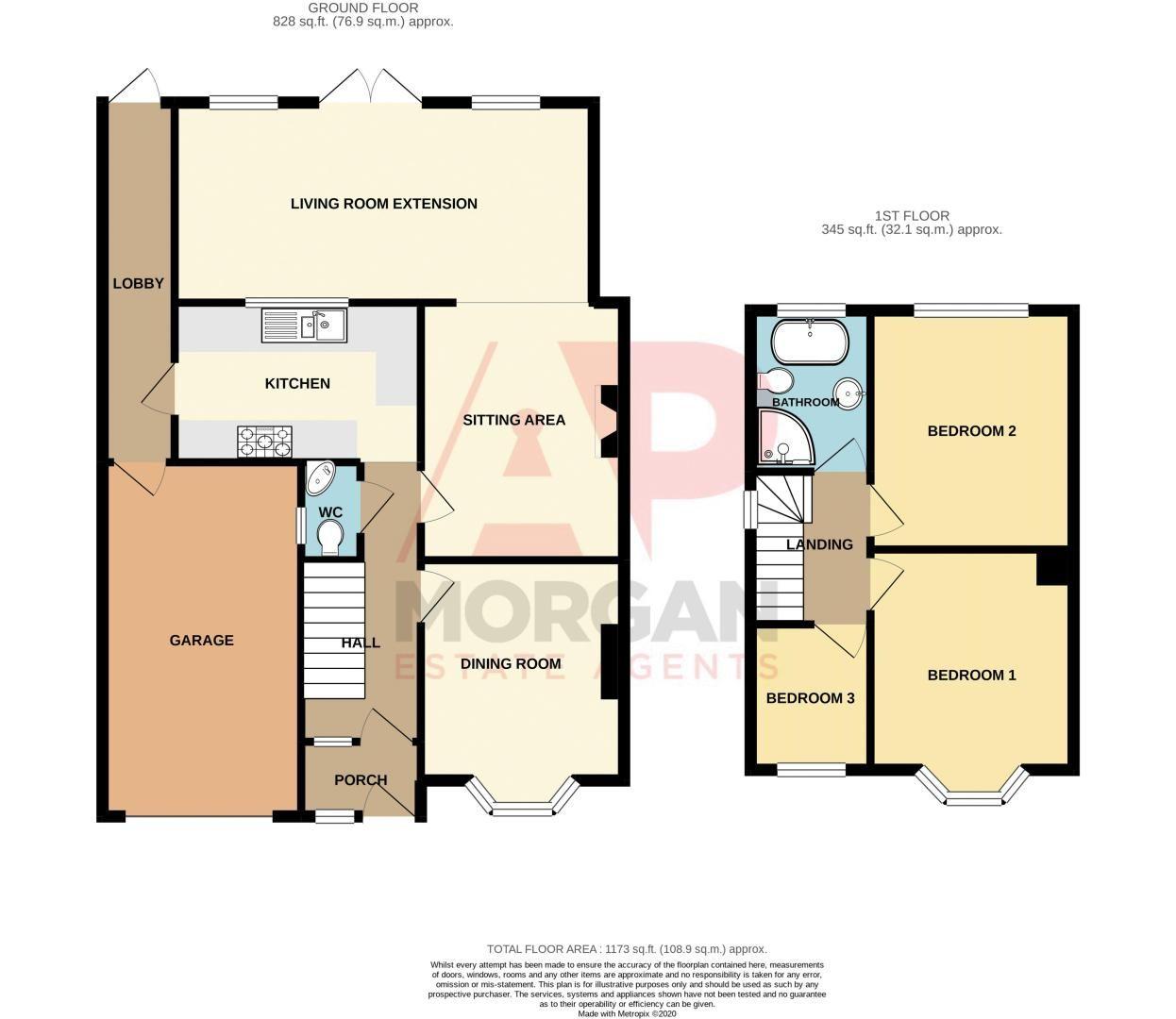 3 bed house for sale in Jubilee Avenue - Property Floorplan