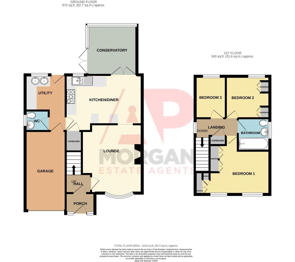 3 bed house for sale in Broomehill Close - Property Floorplan