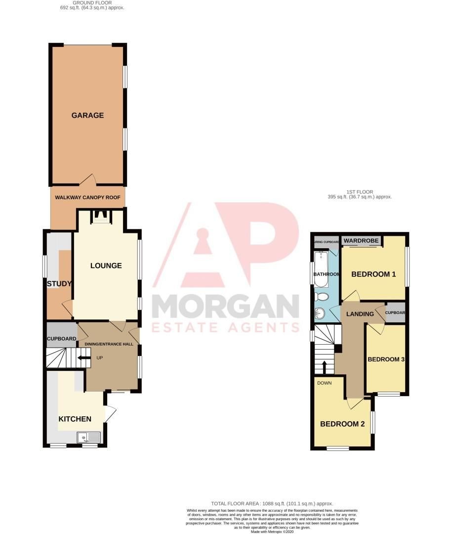 3 bed cottage for sale in Astwood Lane - Property Floorplan