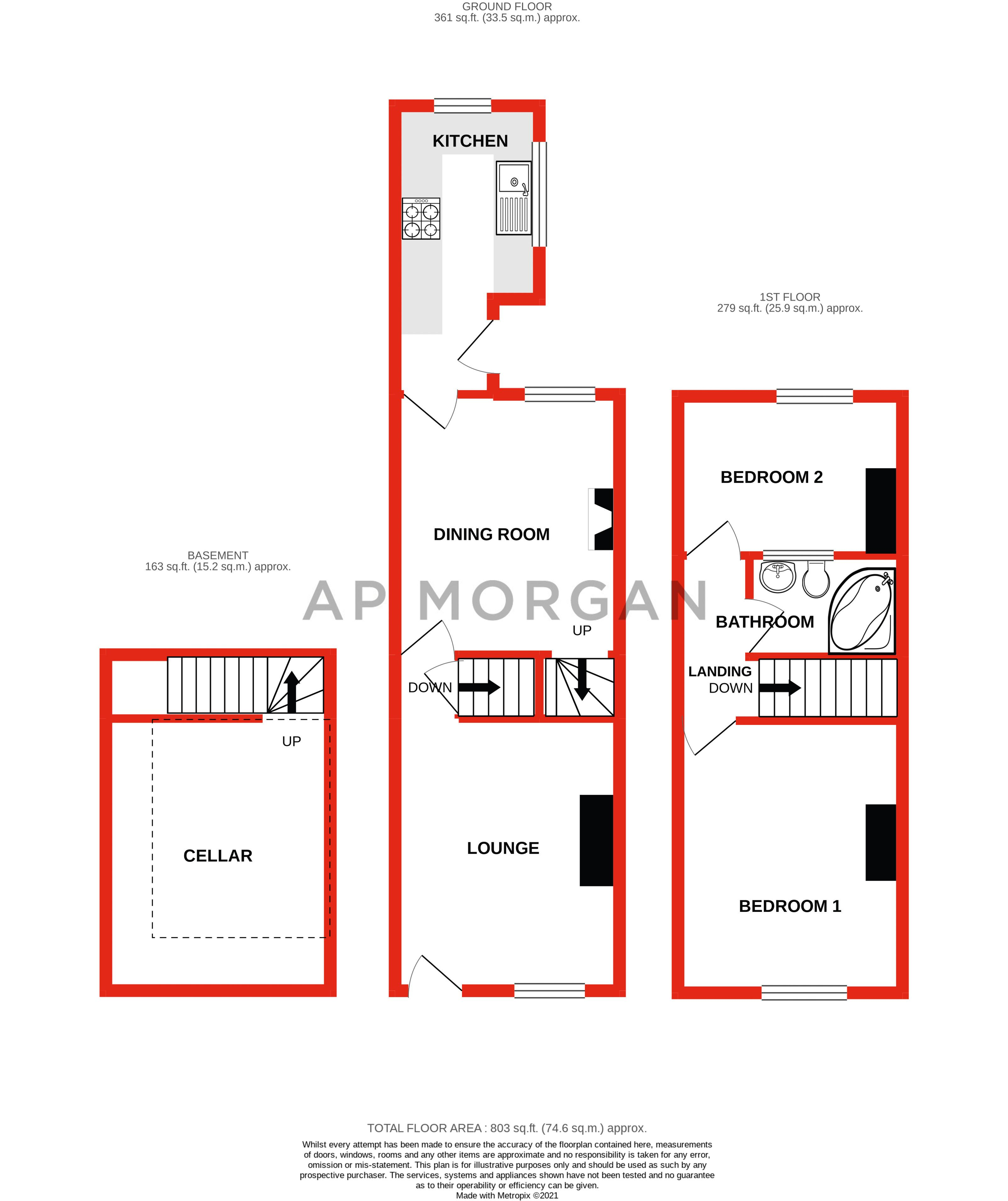 2 bed house for sale in King William Street - Property Floorplan
