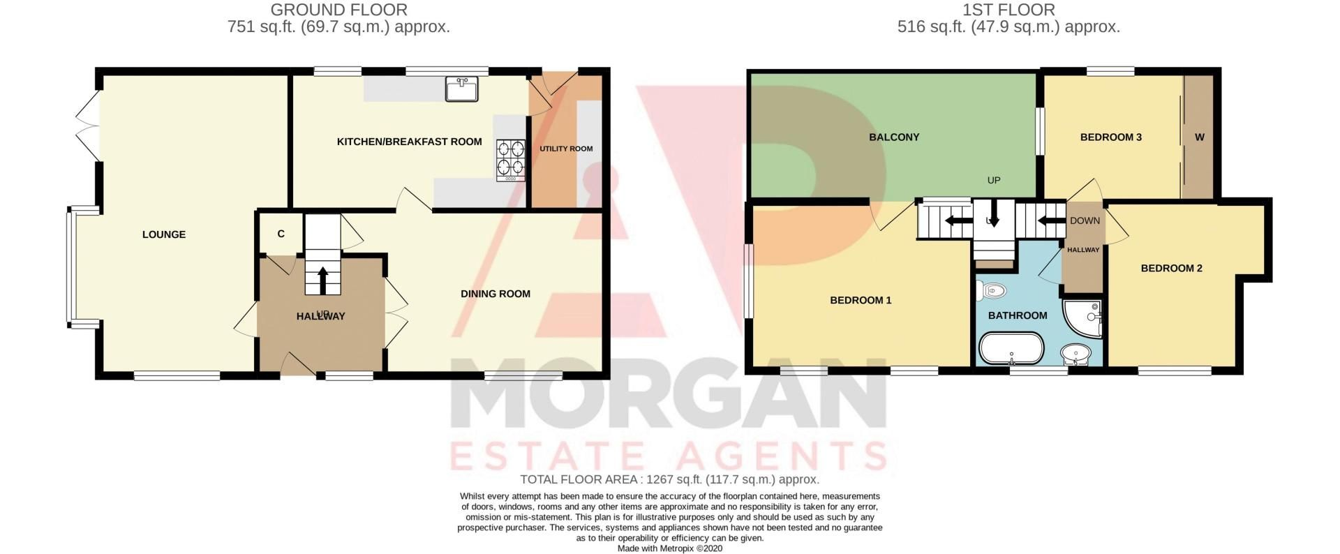 3 bed cottage for sale in Hewell Lane - Property Floorplan