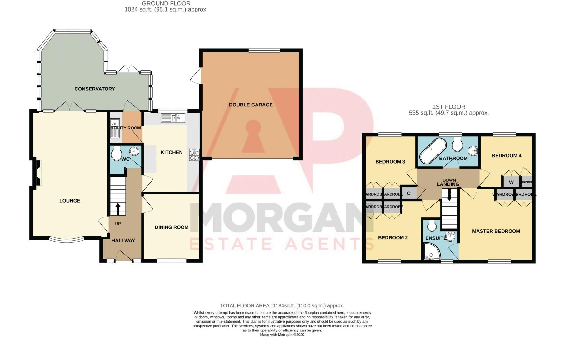 4 bed  for sale in Foxlydiate Lane - Property Floorplan