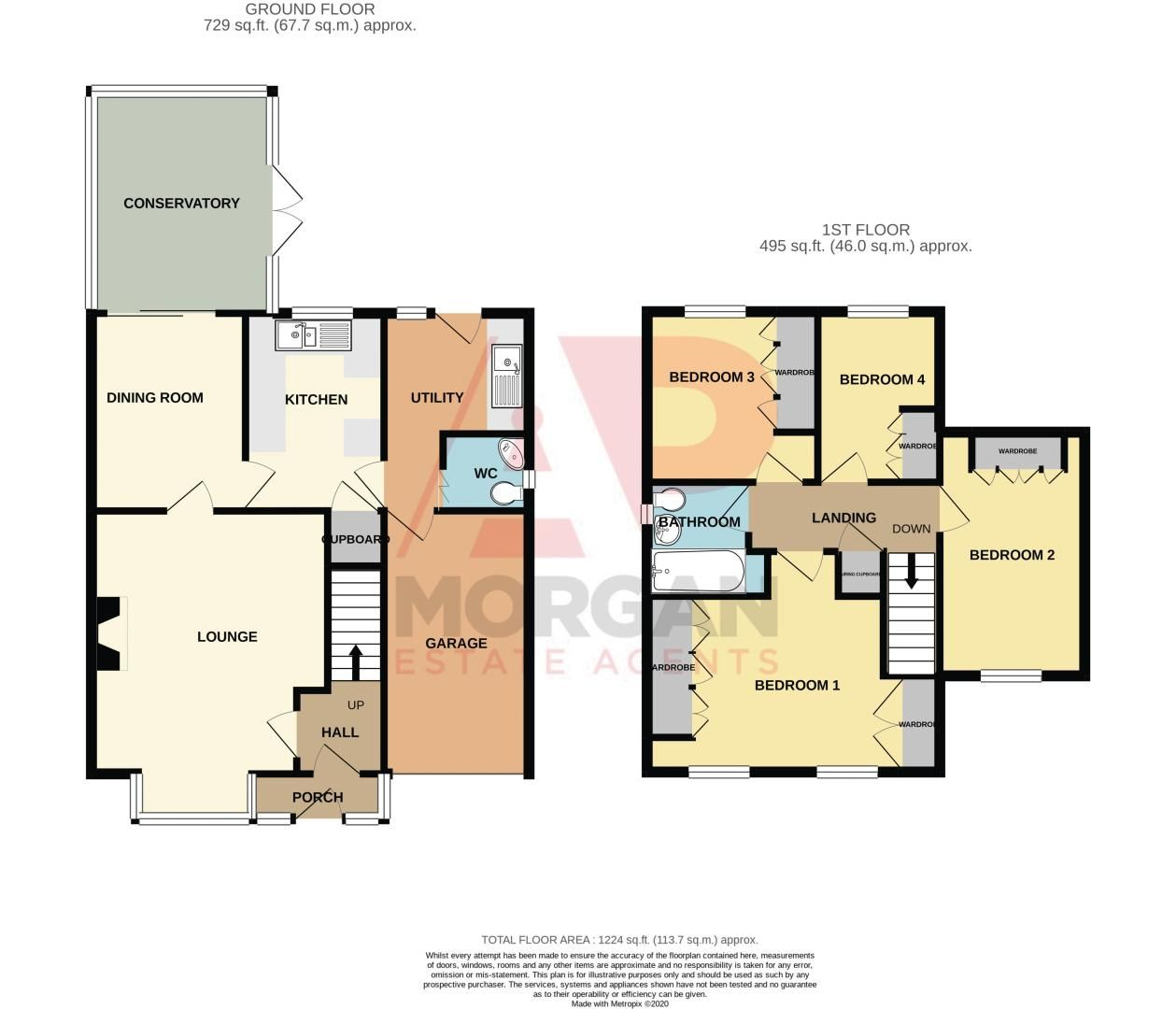 4 bed house for sale in Blake Hall Close - Property Floorplan