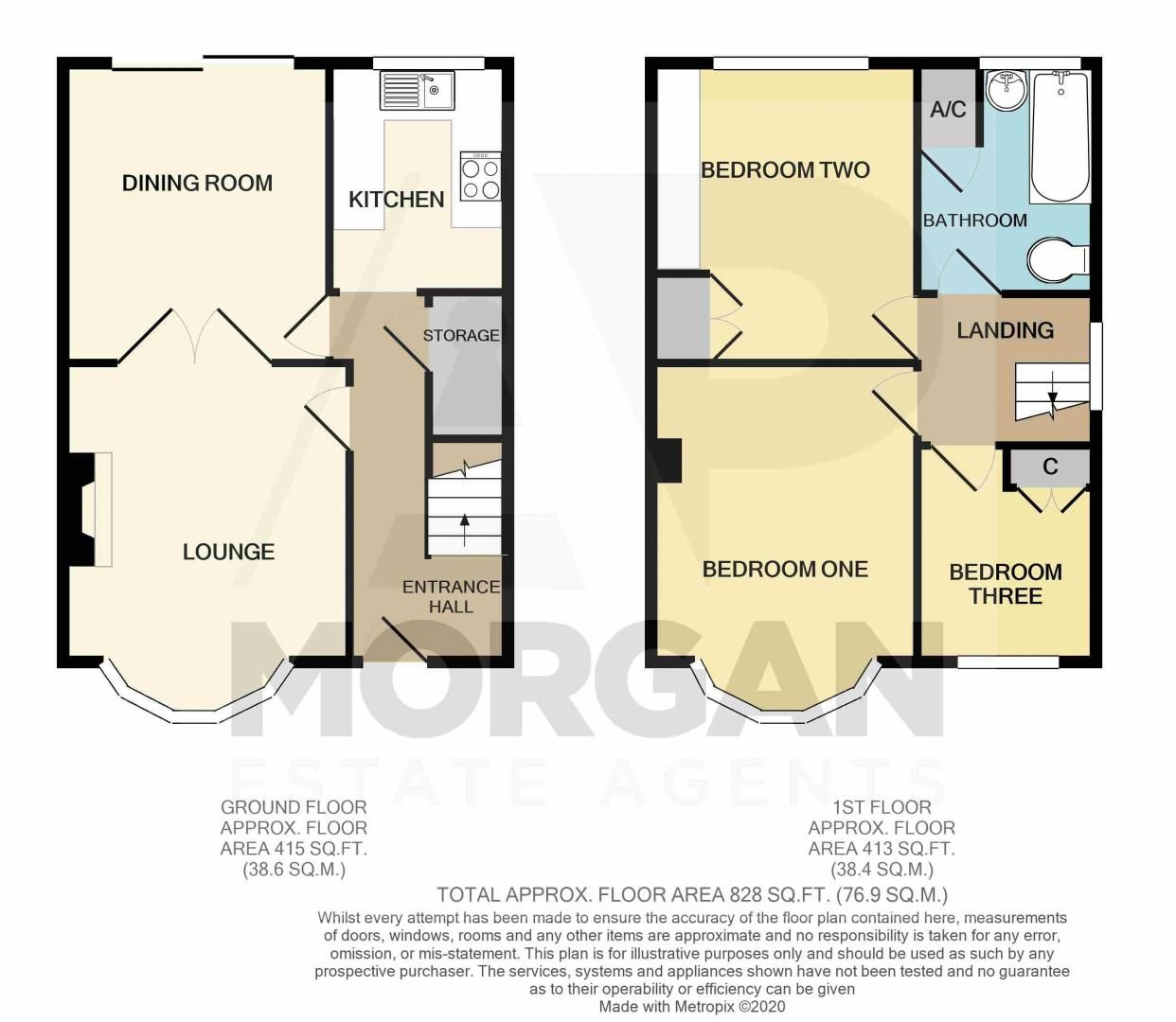 3 bed house for sale in Castle Road - Property Floorplan