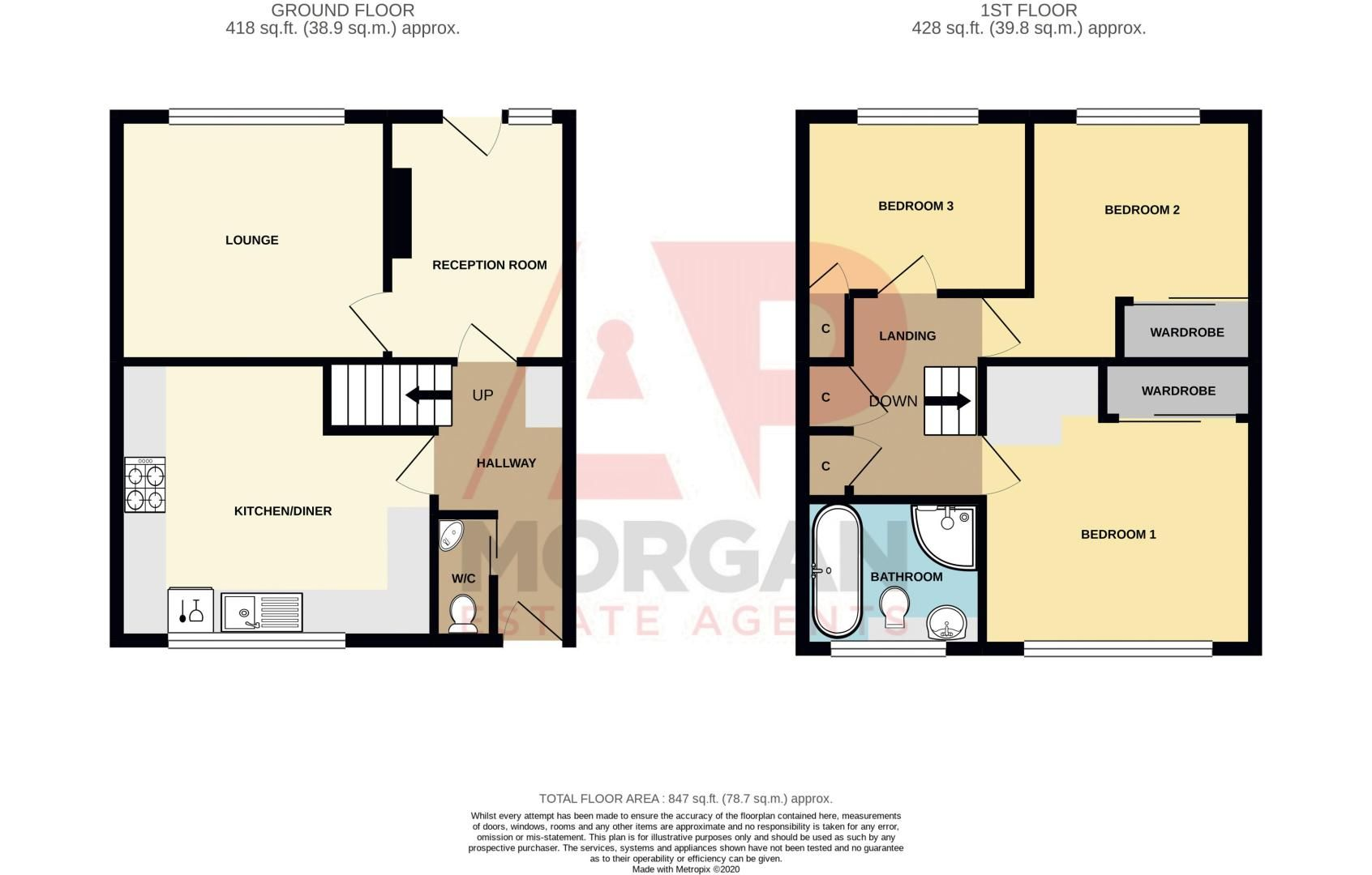 3 bed house for sale in Astley Close - Property Floorplan